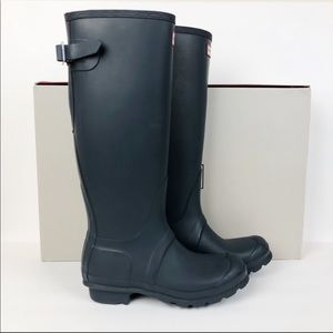 Hunter Tall Adjustable Navy Rain Boots
